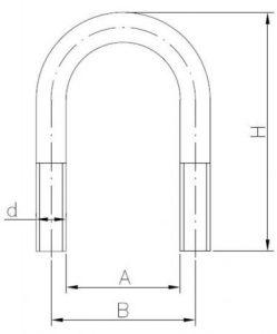 Cybant typu B - owalny (kabłąkowy), ocynkowany szkic