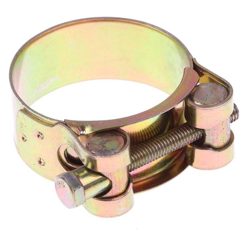 opaska zaciskowa skręcana GBS SGB W1, ocynk żółty