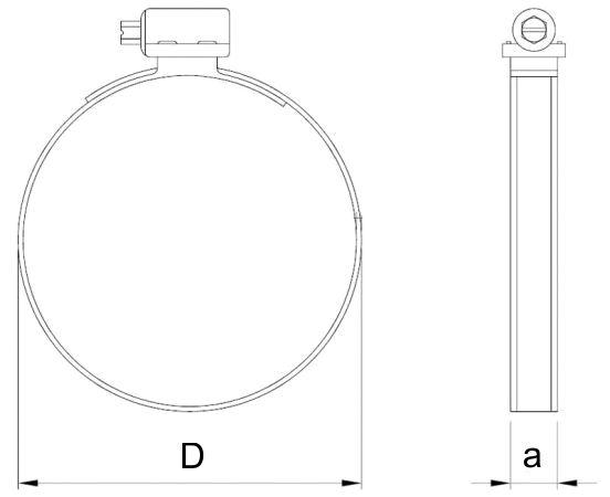 opaska ślimakowa STANDARD 9 mm W1 9