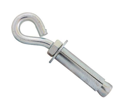 stalowy łącznik rozporowy typu hak z uchem zamkniętym