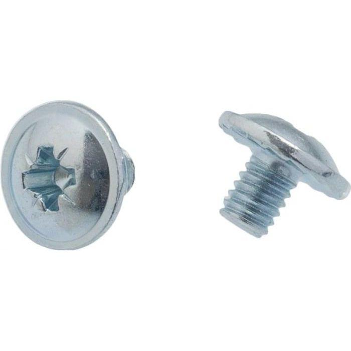 Wkręt metryczny z łbem podkładkowym ząbkowanym, pełny gwint, ocynk, kl. 4.8, DIN967