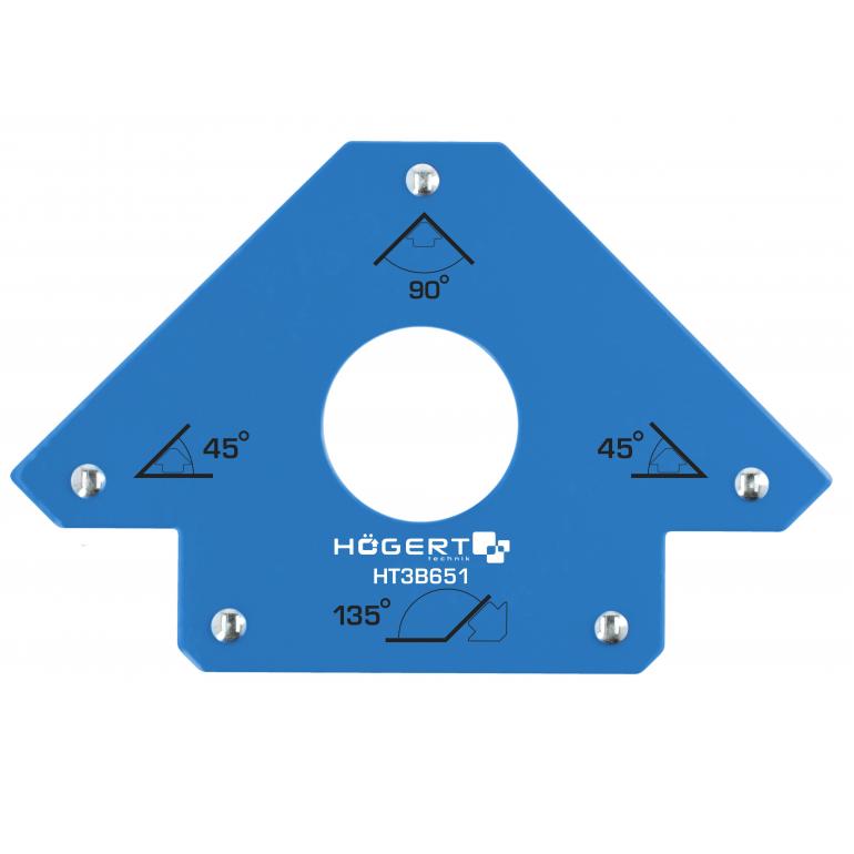 Magnetyczny kątownik spawalniczy strzałkowy Hogert