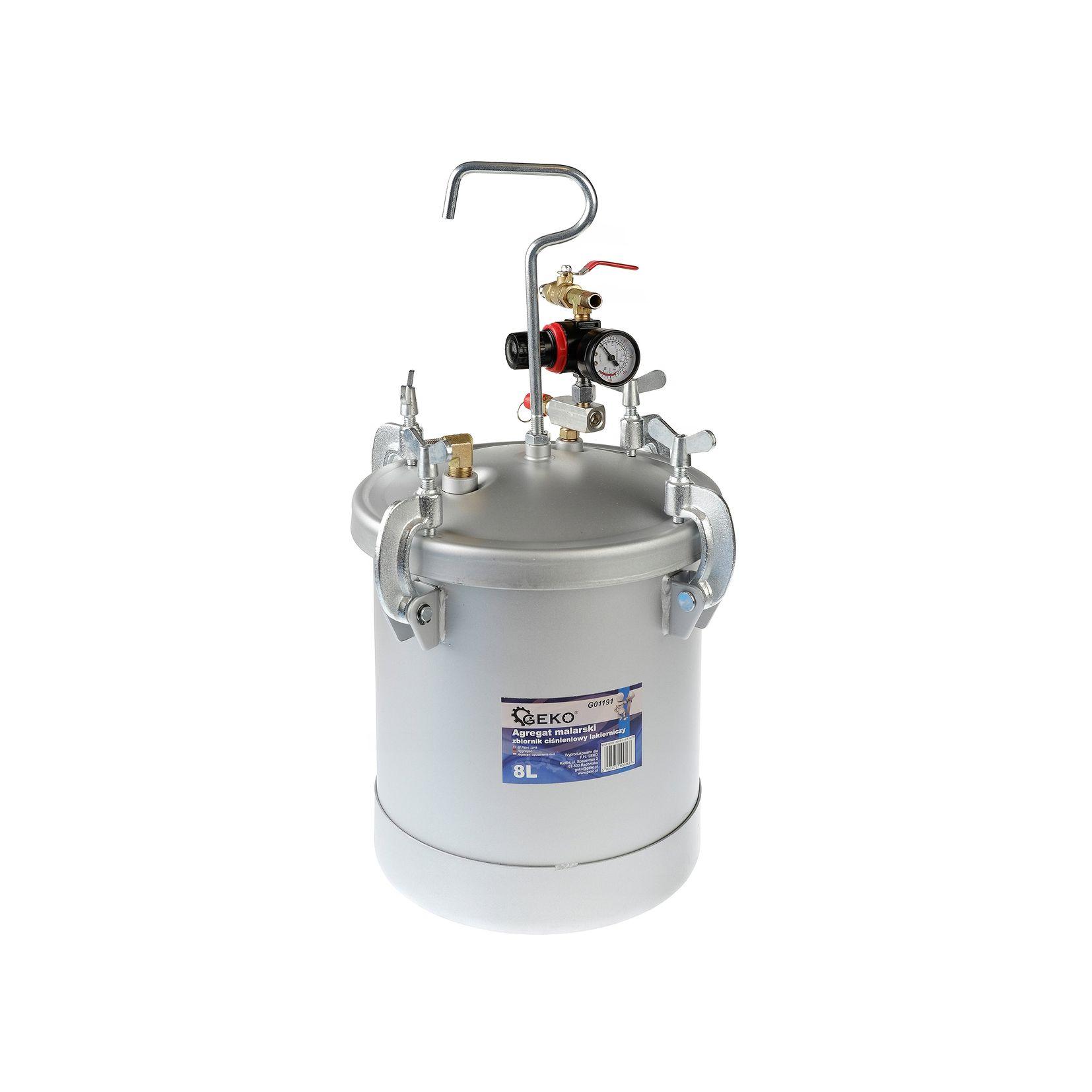 Agregat malarski- zbiornik lakierniczy ciśnieniowy 8l GEKO2