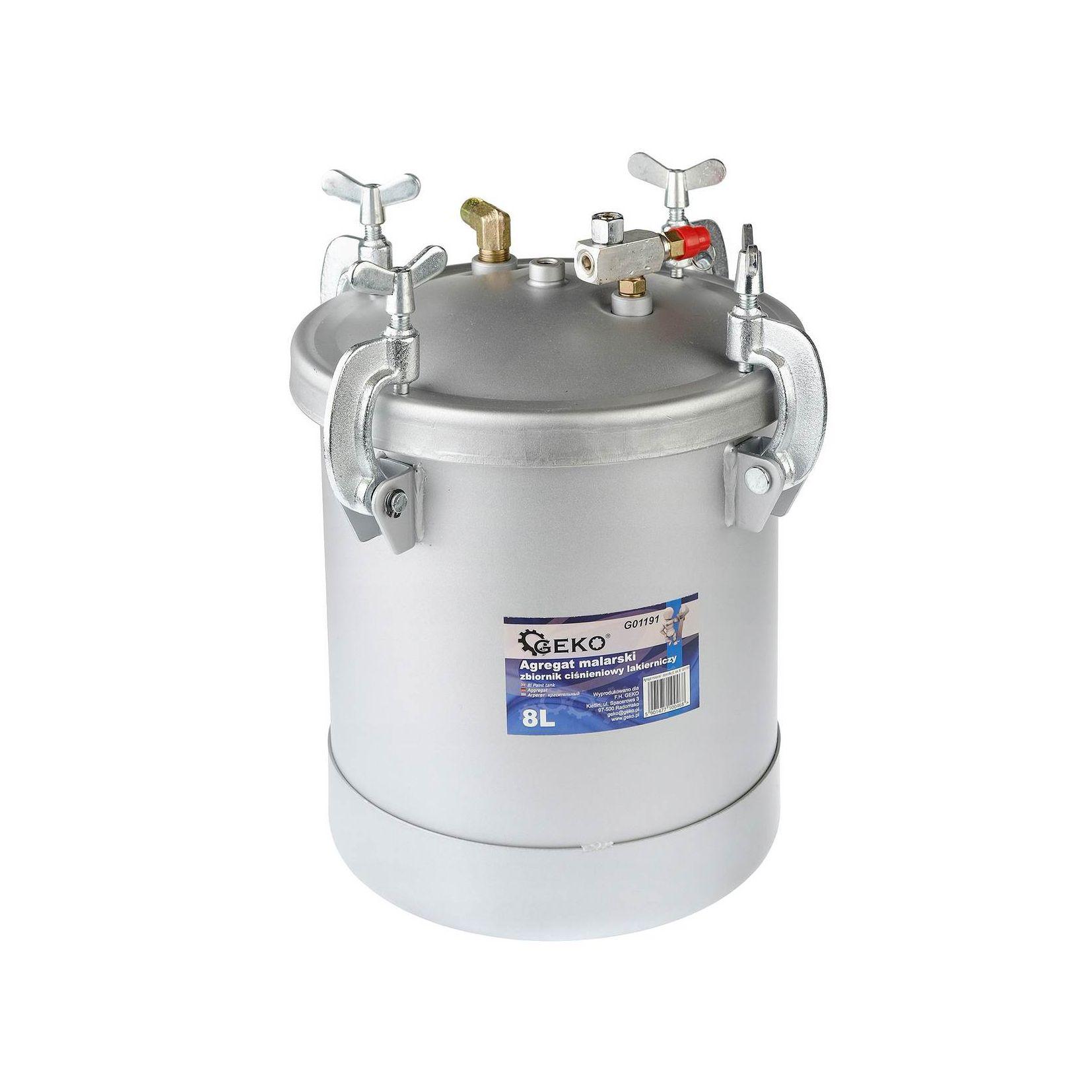 Agregat malarski- zbiornik lakierniczy ciśnieniowy 8l GEKO3