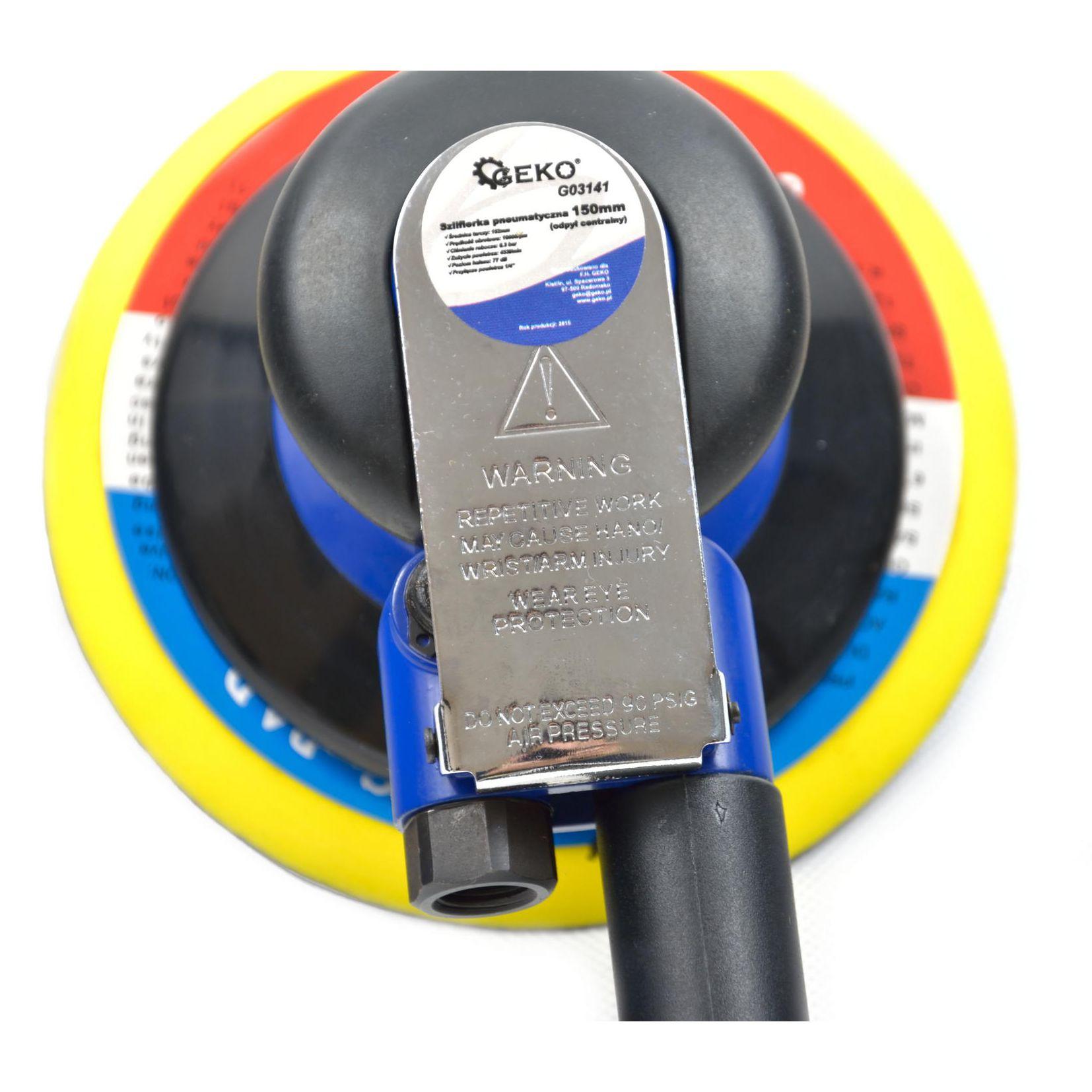 Szlifierka pneumatyczna (odpył centralny) GEKO PREMIUM3