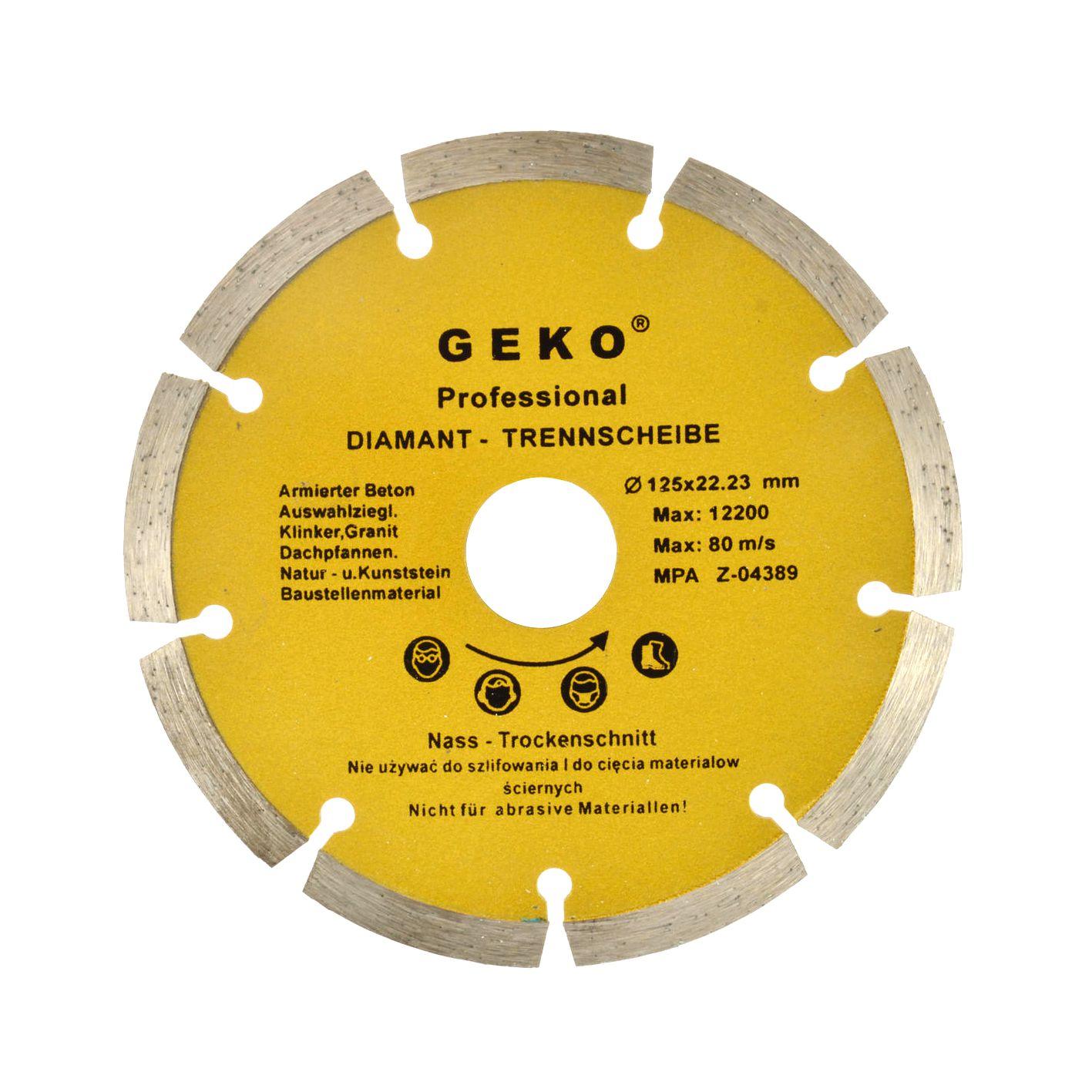 Tarcza diamentowa segmentowa GEKO PROFI