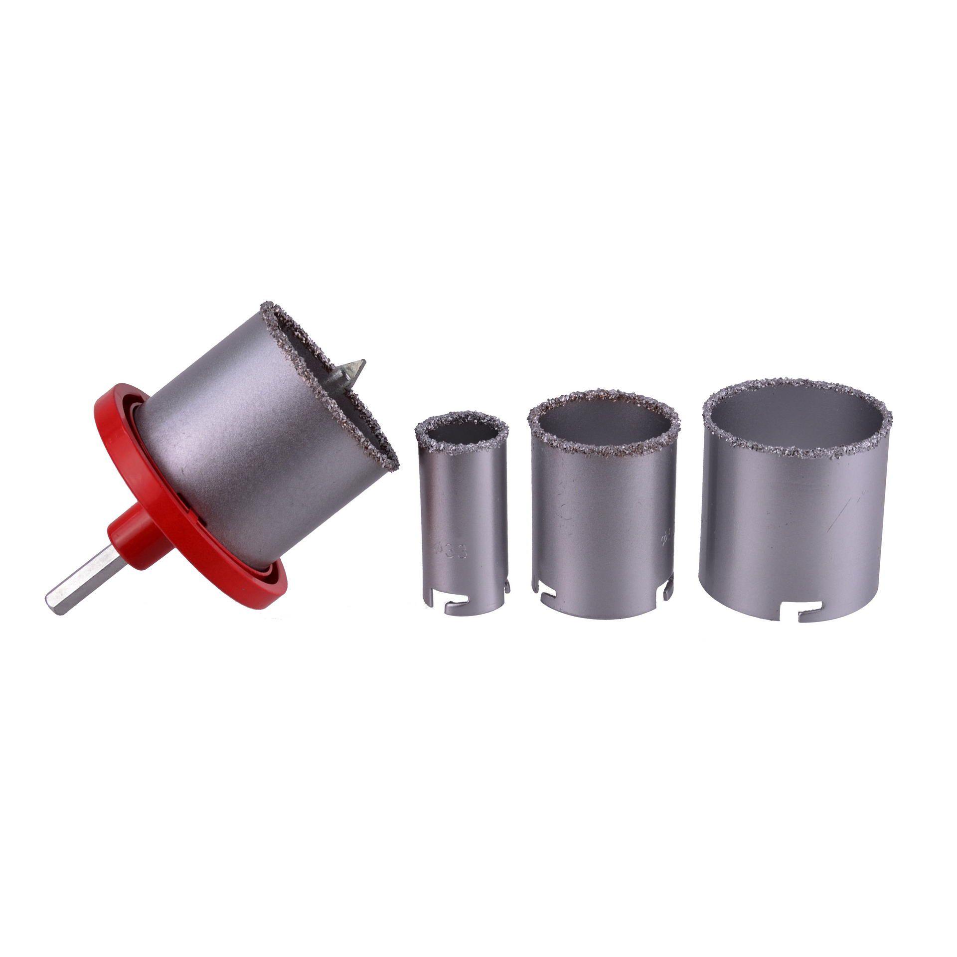 Otwornica wolframowa do glazury 33-73mm 4el. GEKO